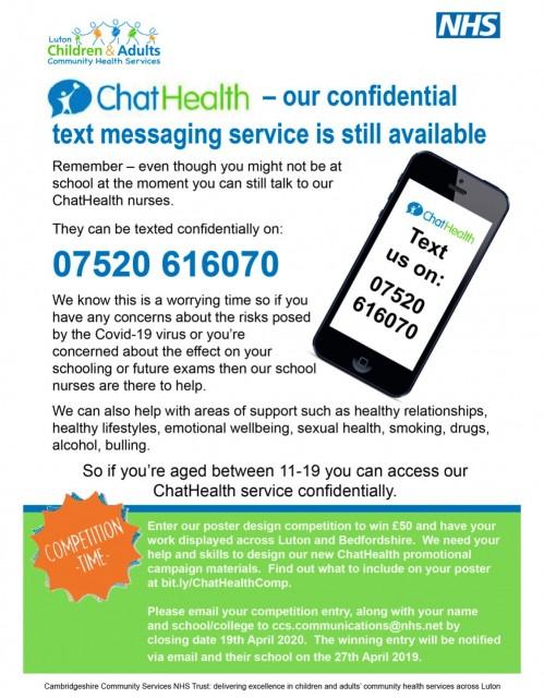 Luton Community NHS ChatHealth Service