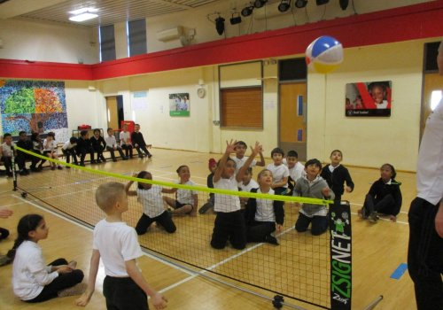 Year 3 Sit Down Volleyball