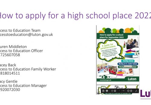 How To Apply For A High School Place…